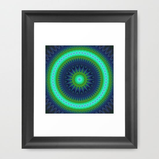 Winter mandala Framed Art Print