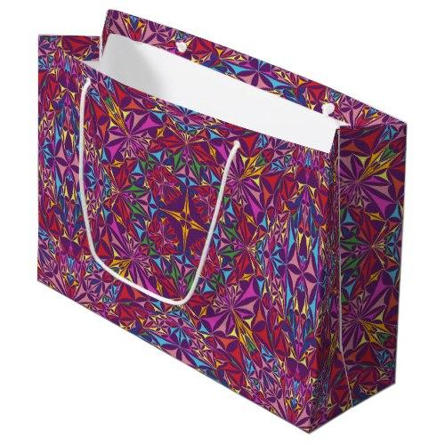 Kaleidoscope of Colors Large Gift Bag
