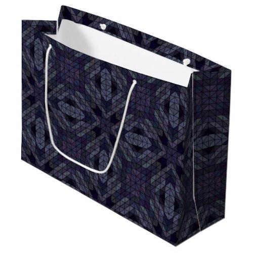 Geometric tiles repeat Large Gift Bag