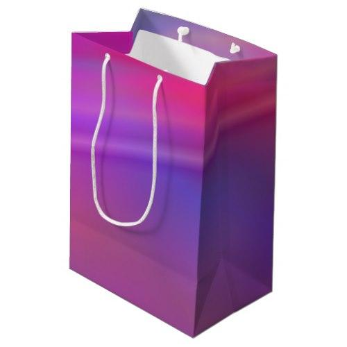 Purple abstract design Medium Gift Bag