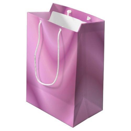 Pink abstract waves Medium Gift Bag