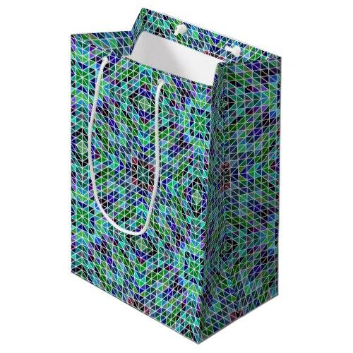 Colored triangle mosaic Medium Gift Bag