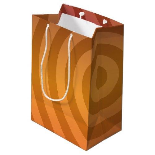 Orange metallic rings Medium Gift Bag