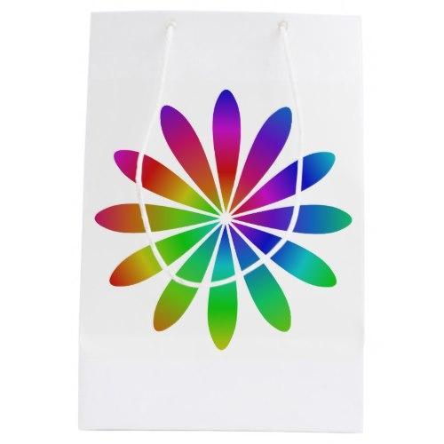 Rainbow flower Medium Gift Bag
