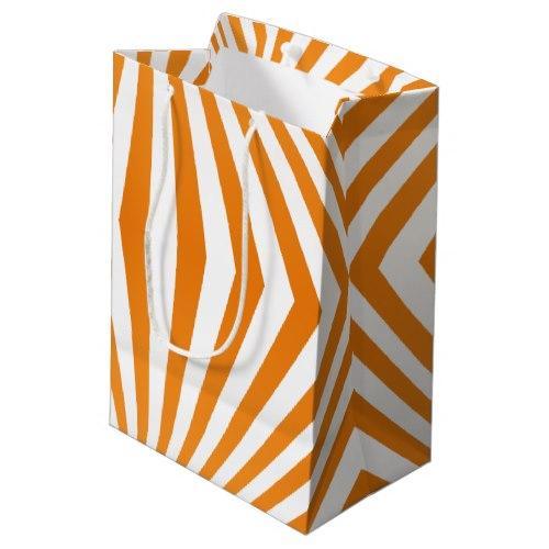 Orange spiral pattern Medium Gift Bag