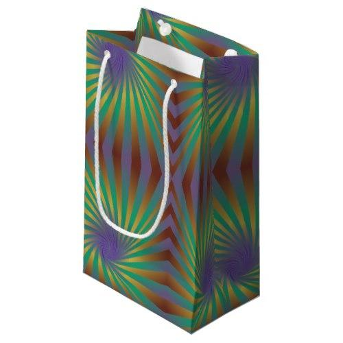 Colorful seamless spirals Small Gift Bag