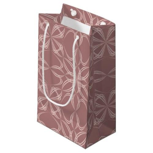 Vintage calligraphic pattern Small Gift Bag