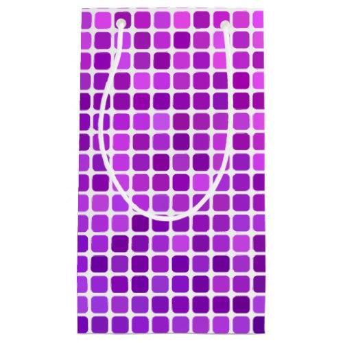 Pink purple pixel mosaic Small Gift Bag