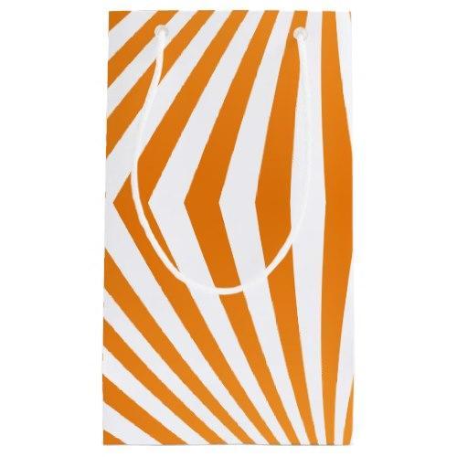 Orange spiral pattern Small Gift Bag