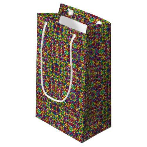 Multicolor mosaic pattern Small Gift Bag
