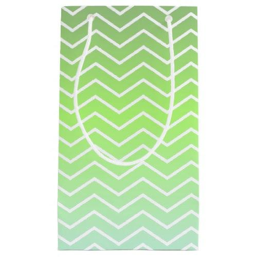 Green zigzag pattern Small Gift Bag