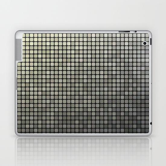 Grey pixel mosaic iPad Skin