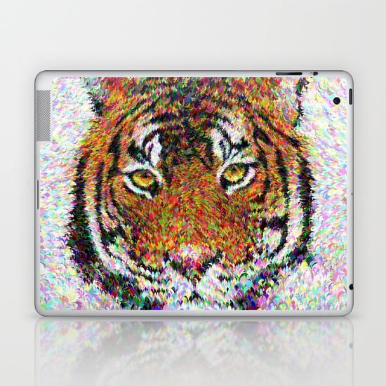 Tiger head iPad Skin