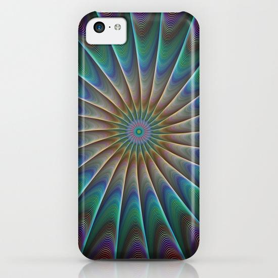 Peacock fractal iPhone 5C Case