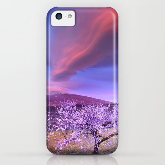 Lenticular clouds over Sierra Nevada and almonds iPhone 5C Case