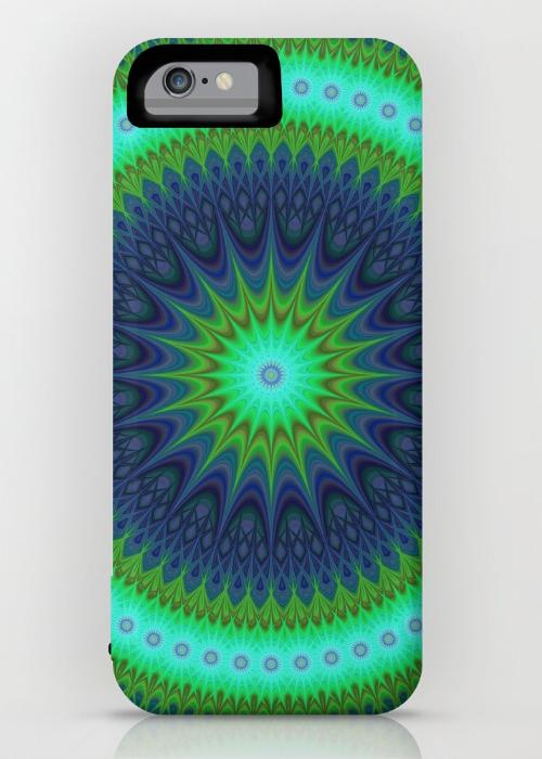Winter mandala iPhone 6 Power Case