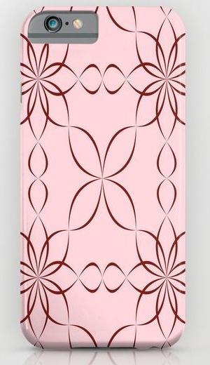 Maroon calligraphic pattern iPhone 6 Slim Case