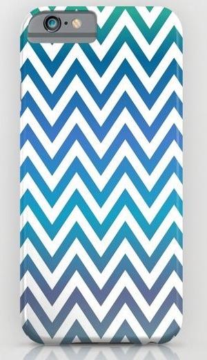 Blue green chevron pattern iPhone 6 Slim Case