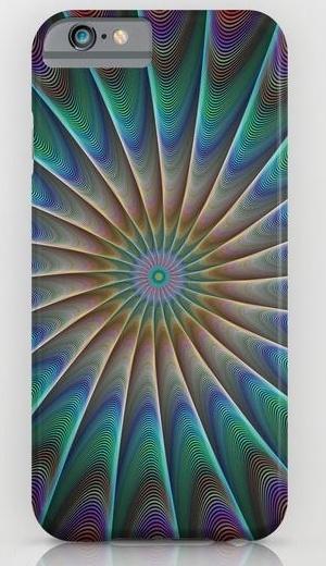 Peacock fractal iPhone 6 Slim Case