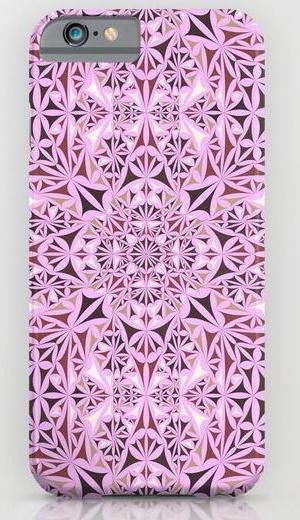 Pink kaleidoscope wallpaper iPhone 6 Slim Case