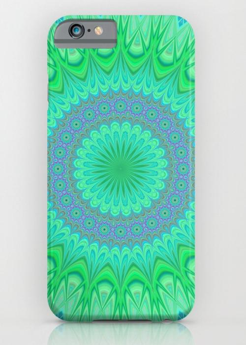 Crystal mandala iPhone 6 Slim Case