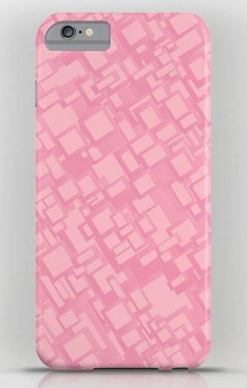 Vintage pink rectangle pattern iPhone 6 Plus Slim Case