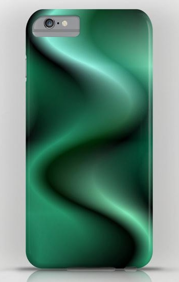Dark green wave abstract iPhone 6 Plus Slim Case