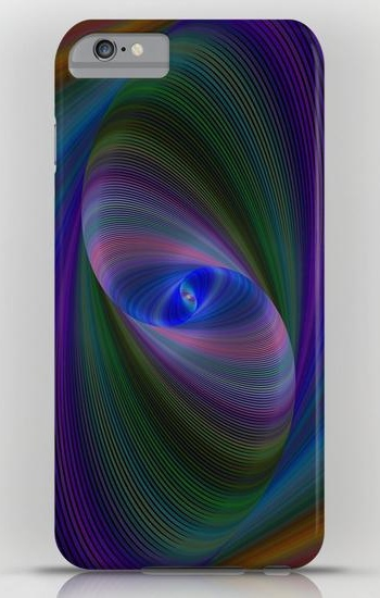 Elliptical fractal iPhone 6 Plus Slim Case
