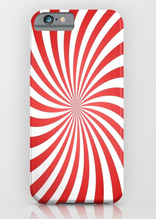 Red spiral ray pattern iPhone 6S Slim Case