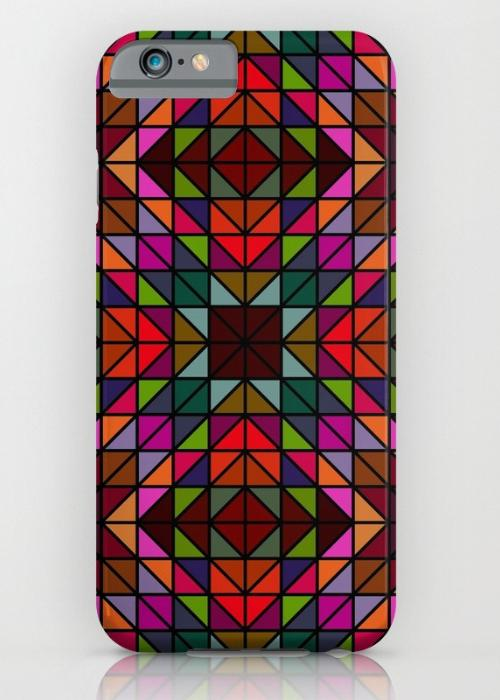 Colorful triangle mosaic iPhone 6S Slim Case