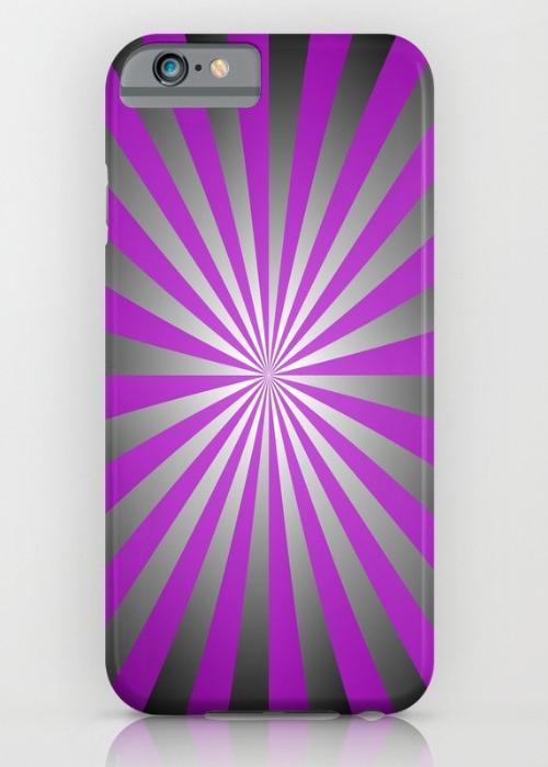 Purple burst iPhone 6S Slim Case
