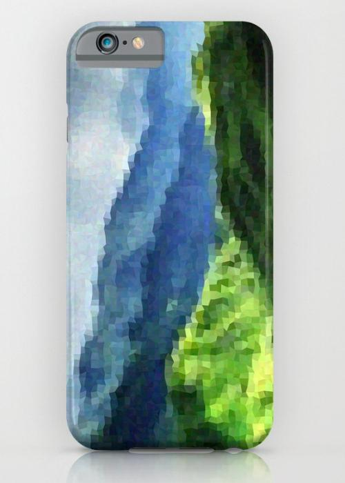 Mosaic mountain landscape iPhone 6S Slim Case