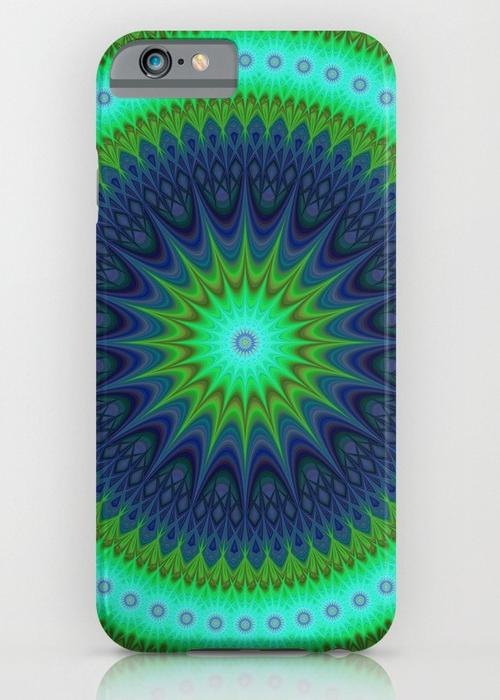 Winter mandala iPhone 6S Slim Case