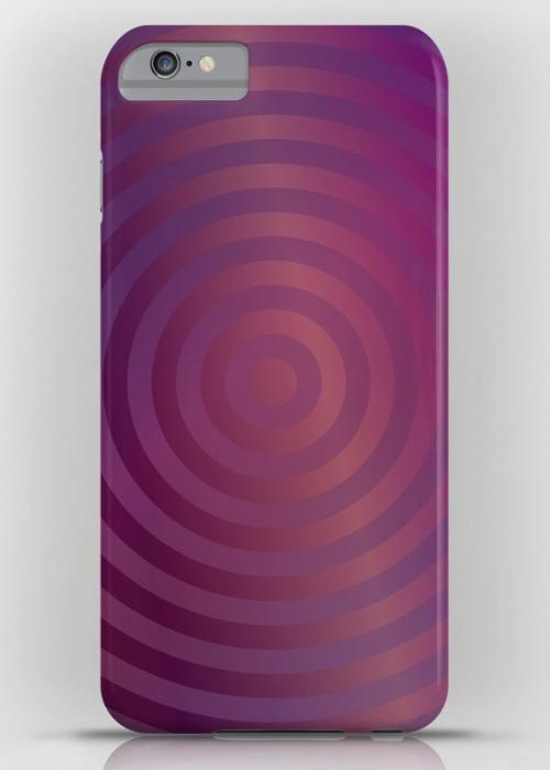 Purple concentric circles iPhone 6S Plus Slim Case