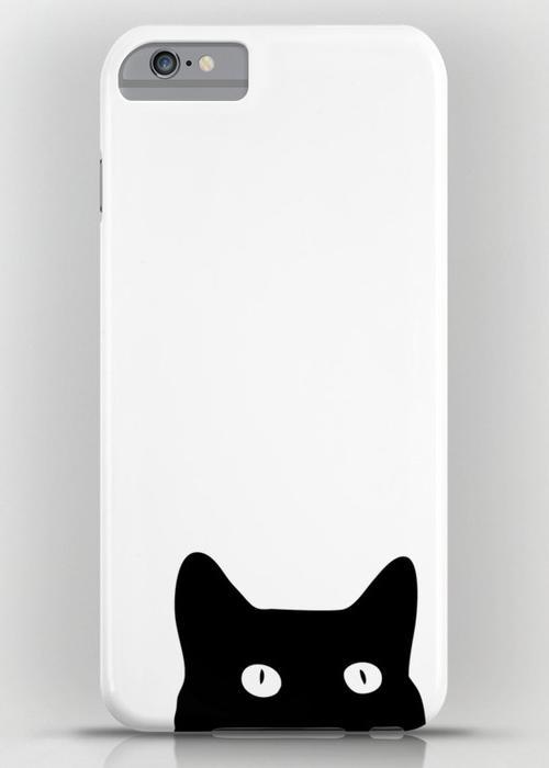 Black Cat iPhone 6S Plus Slim Case