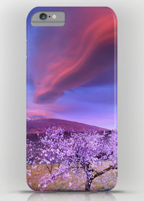 Lenticular clouds over Sierra Nevada and almonds iPhone 6S Plus Slim Case