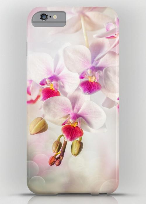White orchid iPhone 6S Plus Slim Case