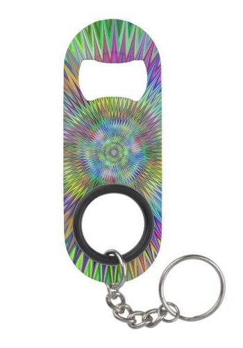 Hypnotic stars Keychain Bottle Opener