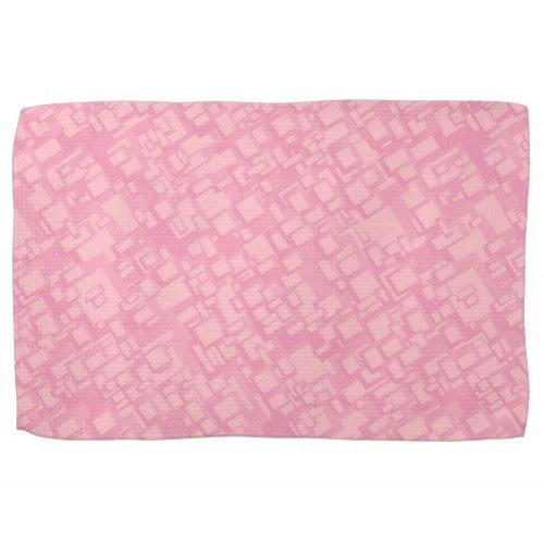 Pink rectangle pattern Kitchen Towel