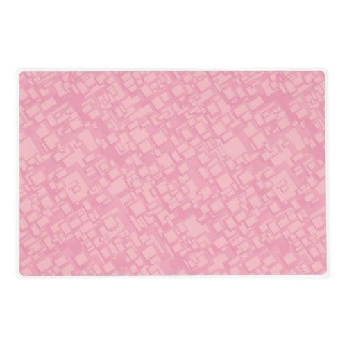 Pink rectangle pattern Laminated Placemat