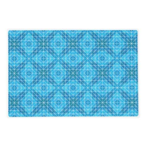 Blue mosaic tiles Laminated Placemat