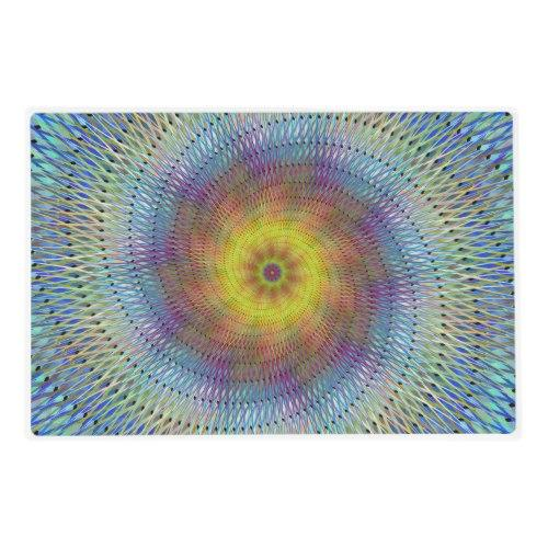Psychedelic spiral Laminated Placemat