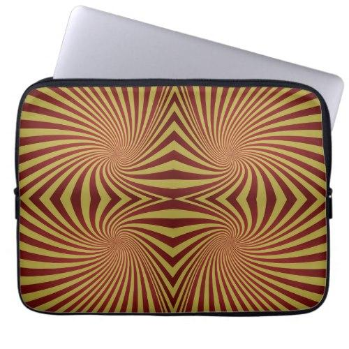 Yellow red spiral pattern Laptop Sleeve