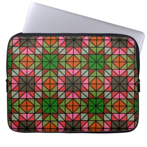 Colorful triangle mosaic pattern Laptop Sleeve
