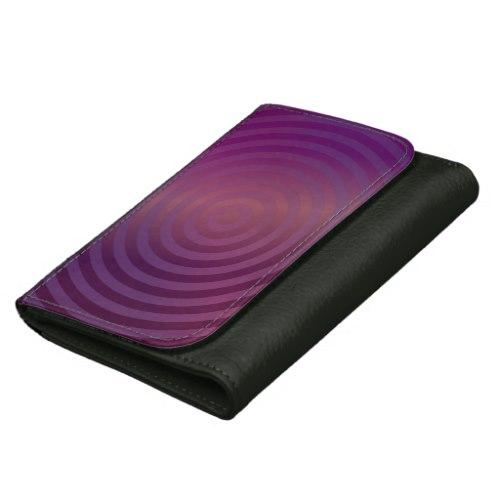Purple shiny circles Leather Wallet