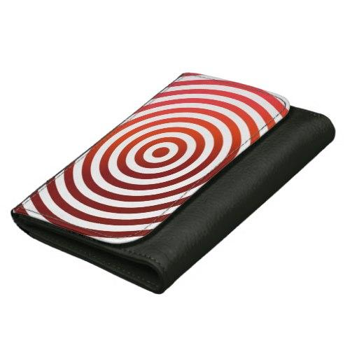 Red concentric circles Leather Wallet