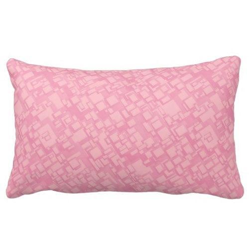 Pink rectangle pattern Lumbar Pillow