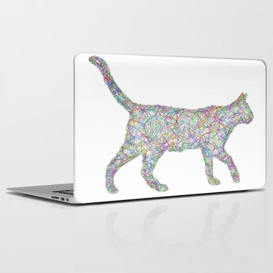 Colorful dust kitten MacBook Air Skin
