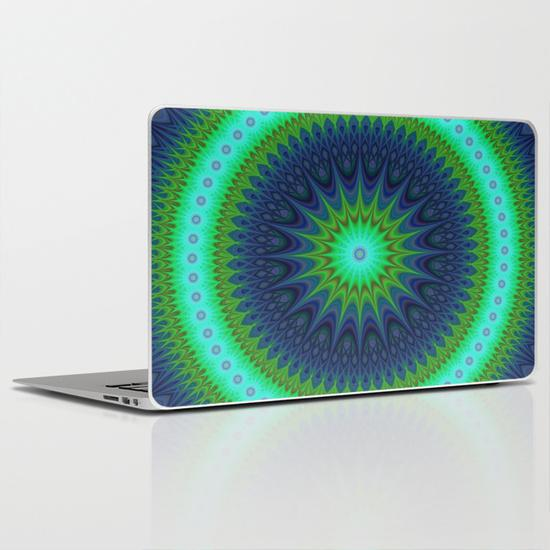Winter mandala MacBook Air Skin