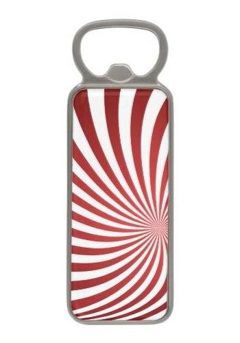 Assymetrical maroon spiral Magnetic Bottle Opener